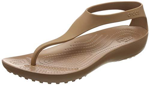Crocs Women's Serena Flip Flop, Bronze, 7 M ()