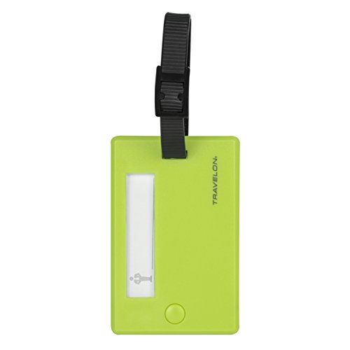 - Travelon Set of 2 Luggage Tags-Swivel, Lime