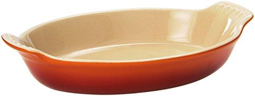 Le Creuset Stoneware Petite Au Gratin Dish, Flame by Le Creuset