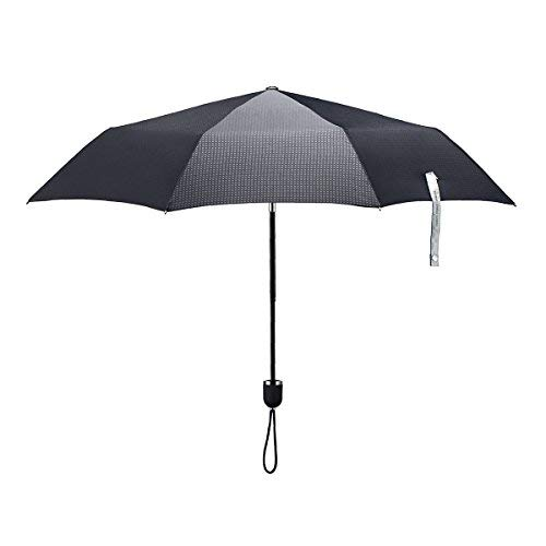 ShedRain Stratus Collection Compact Manual Umbrella - Matte Black TPR Grip