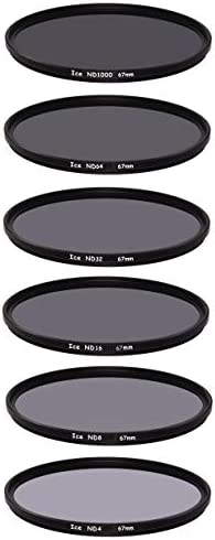 ICE 67mm 6 ND フィルターセット スリム ND1000 ND64 ND32 ND16 ND8 ND4 ニュートラルデンシティー 10 6 5 4 3 2ストップ 光学ガラス 67