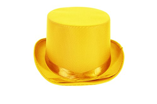 [Dress Up Party Costume TOP Hat (Yellow)] (Snowman Costume Hat)