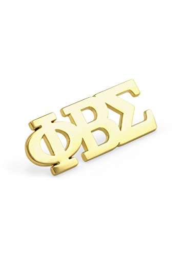 Sigma Phi Fraternity - Phi Beta Sigma Fraternity 14K Gold Plated Greek Letter Lapel Pin