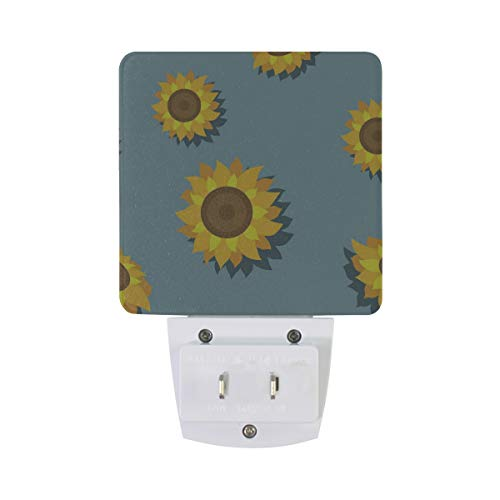 Night Light Blue Sunflower Led Light Lamp for Hallway, Kitchen, Bathroom, Bedroom, Stairs, DaylightWhite, Bedroom, Compact by OuLian (Image #3)