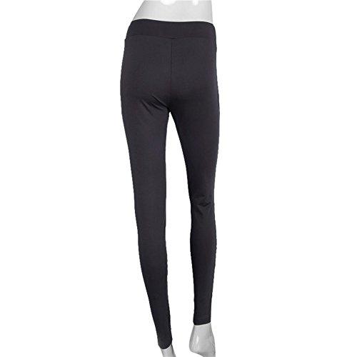 Culater® Femmes Sexy Hollow-Out Net fil épissage Leggings Pantalons