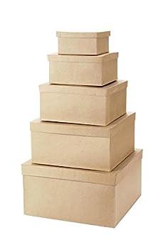 Darice 2849-09 8/9/10-Inch Paper Mache Round Box