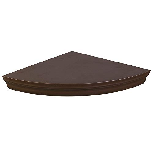 (Halter Corner Floating Shelf - Space Saving Round Design with No Visible Support. 10''x 10'' Brown, Mounting Hardware Included, Functional &)