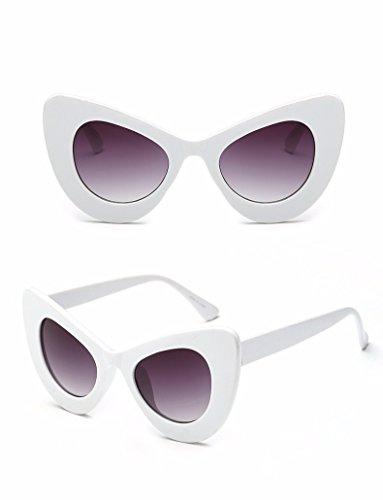 lunettes des des mode lunettes anti de gris soleil la de blanc uv personnalité r8qHw84aW