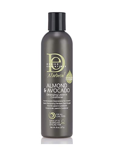 Design Essentials Natural Instant Detangling Leave-In Sulfate-Free Conditioner For Healthy, Moisturized, Luminous Frizz-Free Hair-Almond & Avocado Collection - 8 Ounce (Best Hair Products For 4b Hair)