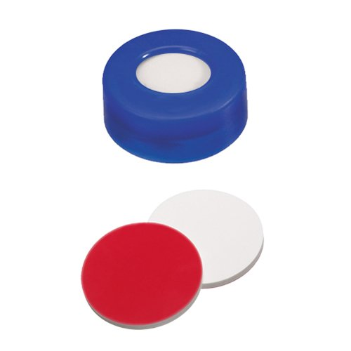 Snap Ring Cap (blue) with Septa Silicone/PTFE, pk.100