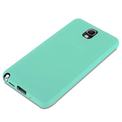 Cadorabo - Cubierta protectora Samsung Galaxy NOTE 3 (N9006) de silicona TPU en diseño Candy - Case Cover Funda Carcasa Protección en CANDY-ROSA AZUL-CANDY