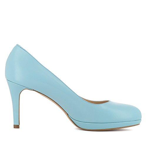 Evita Shoes Bianca - Zapatos de vestir de Piel para mujer azul claro