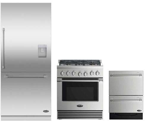 DCS 3 Piece Stainless Steel Kitchen Package With RDV2305L 3O