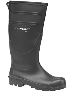 dc3fbba49437c8 Dunlop Universal PVC Welly Shoes Plain Rubber Wellingtons Mens Footwear  Wellies