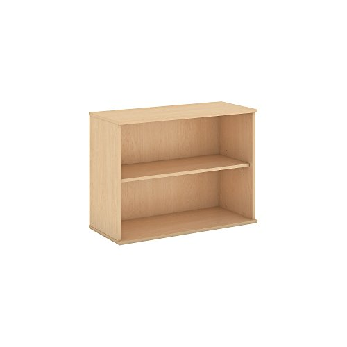 - Bush Business Furniture 30H 2 Shelf Bookcase in Natural Maple