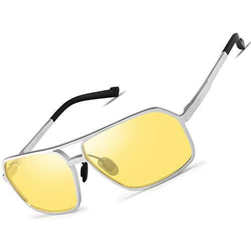 SOXICK 2019 Night Vision Glasses Anti Glare Polarized HD Night Driving Glasses (9) ()