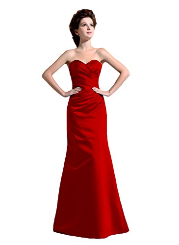Bridal_Mall - Robe - Trapèze - Sans Manche - Femme -  Rouge - 58 plus