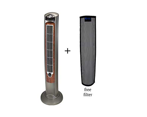 Lesko Tower Fan 3 Speed Oscillating Energy Efficient Machine with Remote Control in 42 Inch Free Fan Filter ()