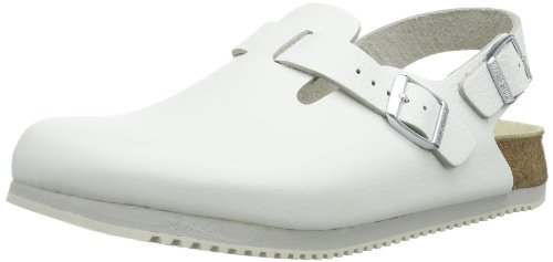 Birkenstock Men's Tokyo White Leather Clogs 36 Normal