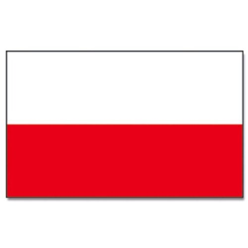 Flaggenking Polen Flagge//Fahne wei/ß 150 x 90 cm 16888