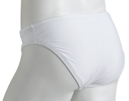 "Speedo Men's Fashion Xtra Life Lycra Solid Solar 1"" Brief Swimsuit, White, 34"