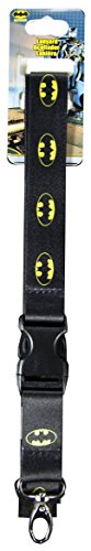 DC+Comics Products : DC Comics Batman Logo All Over Lanyard ID Holder with Breakaway Clip Keychain