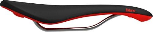 (Fabric 2018 Scoop Shallow Elite Bicycle Saddle - FU4500SE (Black w Red))