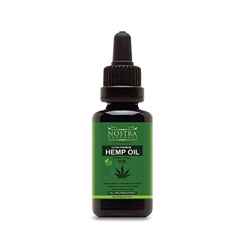 Hemp Oil Drops – Ultra Premium Extract – All Natural Anxiety, Sleep and Mood Support – Provides Pain and Inflammation Relief – Best Mint Flavor Review