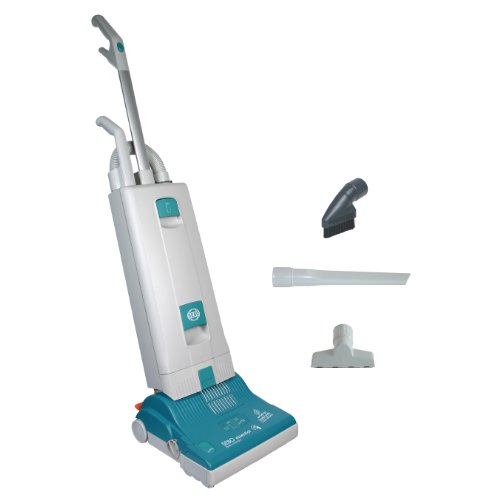 - SEBO 9591AT Essential G1 Upright Vacuum with 12-Inch Power Head, Light Gray and Teal - Corded