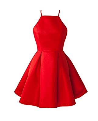 TBGirl Cute Straps Red Homecoming Dresses Mini Short Cocktail Party Dress