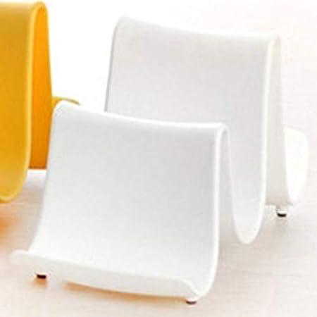 KEKJORY Creative Wave Plastic Pot Copertura Pan Shelf Coperchio Mestolo Stand dellorganizzatore del Supporto