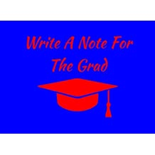 Write A Note For The Grad: Blue/Red Spirit Colors Graduation Guest Book For Party. Graduate Advice or Autograph Book Unlined. (Tassel Zone School Colors)
