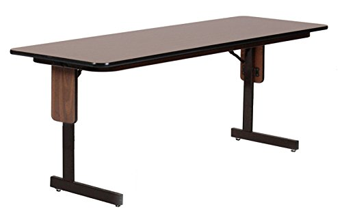 Leg Seminar Table - Correll SP2460PX-01 High Pressure Laminate Classroom, Training or Seminar Table with Folding Panel Leg, Rectangular, 24