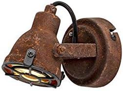 QAZQA Industrie//Industrial Industriestelle rostbraun Sorra//Innenbeleuchtung//Wohnzimmerlampe//Schlafzimmer//K/üche Stahl Rund LED geeignet GU10 Max 1 x 25 Watt