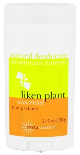 - Earth Science Liken Plant Natural Deodorant Unscented - 2.5 oz pack of - 1 by Earth Science