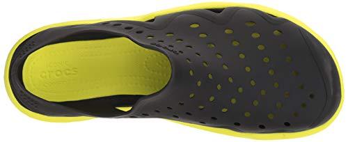 crocs Men's Swiftwater Wave M Flat,black/tennis ball green,4 M US by Crocs (Image #9)