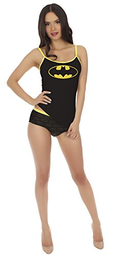 Dc Comics Batman Cami & Panty Set for women (Large) (Womens Batman Underwear)