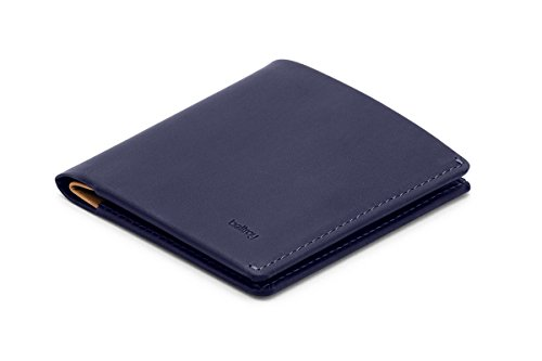 Piel Grain Top Leather - Bellroy Leather Note Sleeve Wallet Navy - RFID