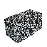 Komfy Kings Tufted Toy Box-Zebra Minky, Pink