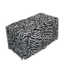 Komfy Kings Tufted Toy Box-Zebra Minky, Pink by Komfy Kings