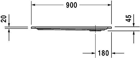 Plato de Ducha Rectangular Duravit Starck Slimline, 90x80 cm ...