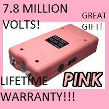 ViperTek PINK VTS-880 7.8 Million Volt Stun Gun w/ Lifetime Warranty and LED Flashlight (Pink)
