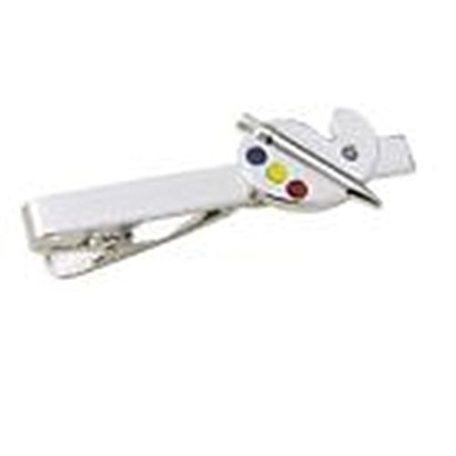 Mondaily - Artist Paint Palette Tie Bar Clasp Clip Color Brush Easel #PPTE5089