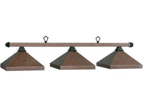 60 Inch 3 Bulb Full Metal Shade Ceiling Light in Sand and Matte Black (Matte Black)