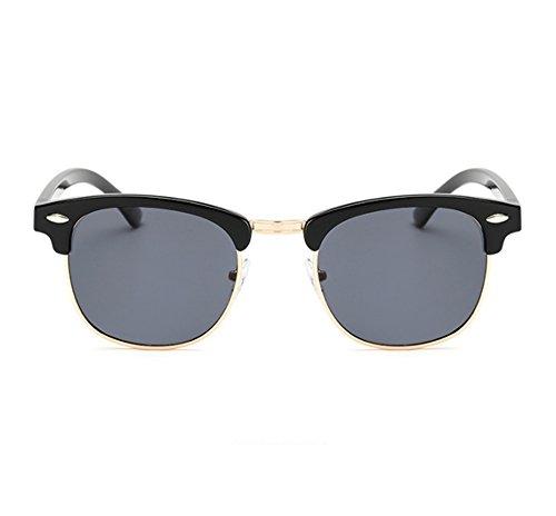 trame demi classique fraîches polarisées soleil de a Gris polarisé rétro Worclub lunettes de UV400 Noir protection lunettes les de qBgwvz8w