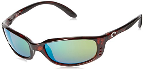 Costa del Mar Unisex-Adult Brine BR 10 OGMP Polarized Iridium Oval Sunglasses, Tortoise, 58.8 - Costa Glasses Sun