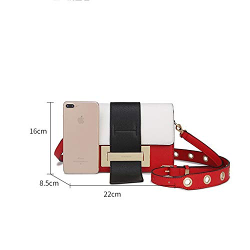 PU Medium Multicolor Lxf20 coréen bandoulière à femme Crossbody Sac à main Sac pour Red ppZqwfPX