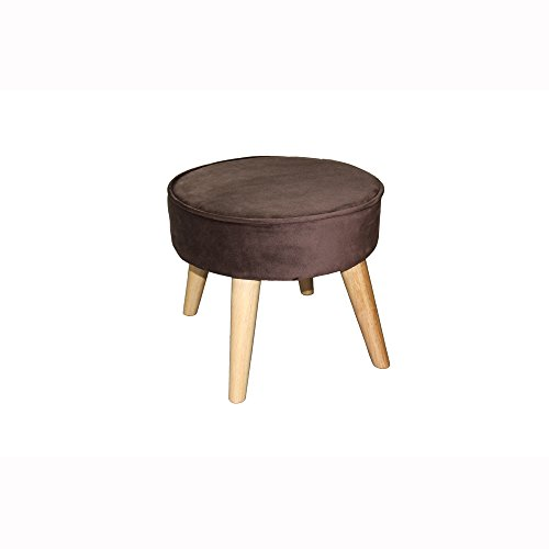 Ore International HB4663 Suede Mid-Century Foot Stool, 13.5