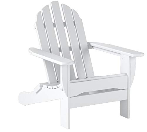 POLYWOOD AD5030WH Classic Folding Adirondack Chair, 35.00 x 29 x 35.00, White
