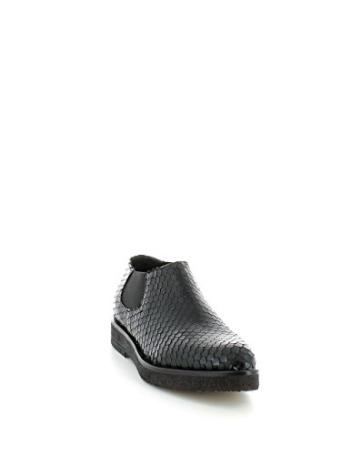 6223 NERO Scarpa donna beatles basso Lilimill pelle made in Italy